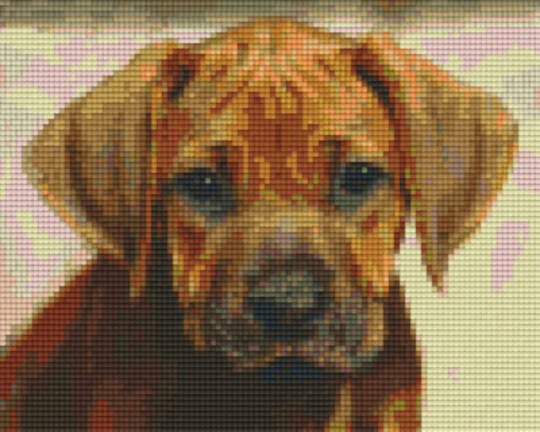 Little Brown Puppy Four [4] Baseplate PixelHobby Mini-mosaic Art Kits