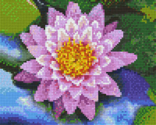 Waterlilly Four [4] Baseplate PixelHobby Mini-mosaic Art Kits