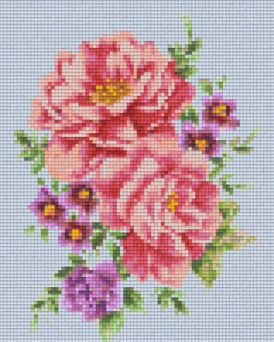 Flower Water Colour Four [4] Baseplate PixelHobby Mini-mosaic Art Kits