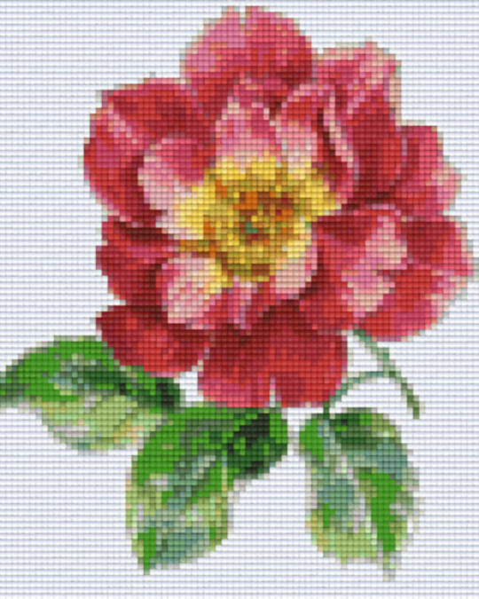 Rose Four [4] Baseplate PixelHobby Mini-mosaic Art Kits
