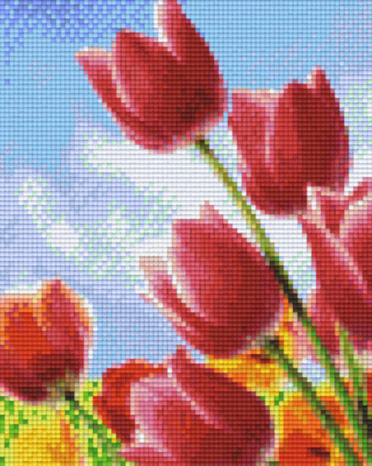 Tuilps Four [4] Baseplate PixelHobby Mini-mosaic Art Kits