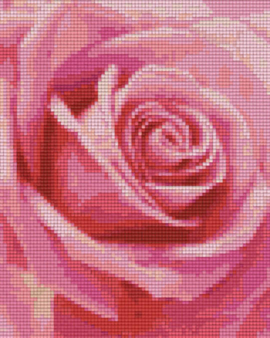 Red Rose Four [4] Baseplate PixelHobby Mini-mosaic Art Kits