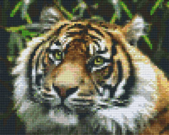 Tiger Four [4] Baseplate PixelHobby Mini-mosaic Art Kits