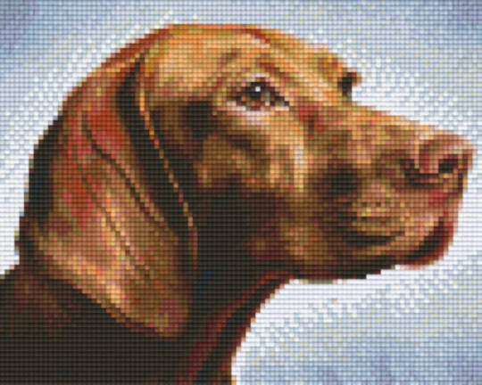 Brown Dog Four [4] Baseplate PixelHobby Mini-mosaic Art Kits