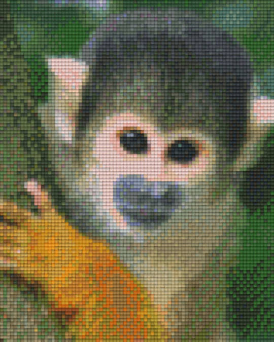 Squirrel Monkey Four [4] Baseplate PixelHobby Mini-mosaic Art Kits
