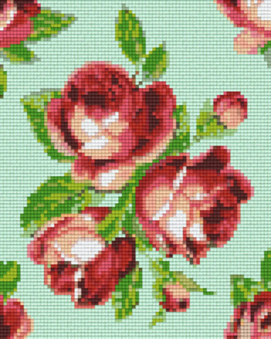 Roses Background Four [4] Baseplate PixelHobby Mini-mosaic Art Kits