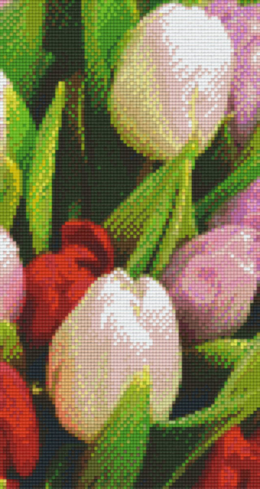 Tulips 2 Six [6] Baseplate PixleHobby Mini-mosaic Art Kits