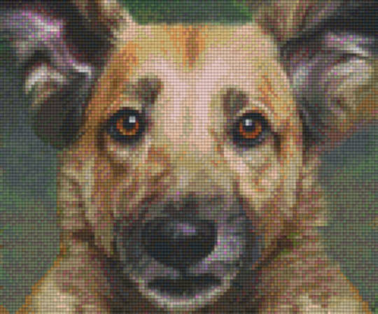 Dog Six [6] Baseplate PixleHobby Mini-mosaic Art Kits
