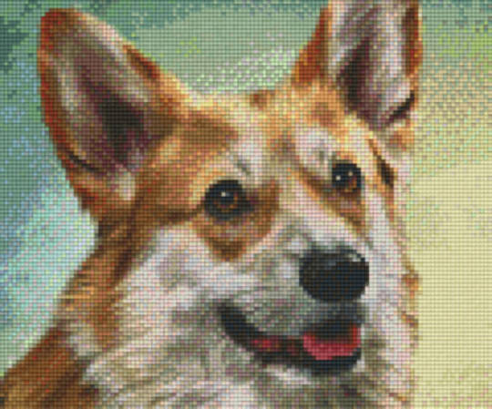 Happy Dog Six [6] Baseplate PixleHobby Mini-mosaic Art Kits