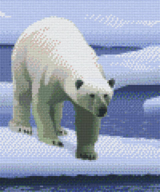 Polar Bear Six [6] Baseplate PixleHobby Mini-mosaic Art Kits
