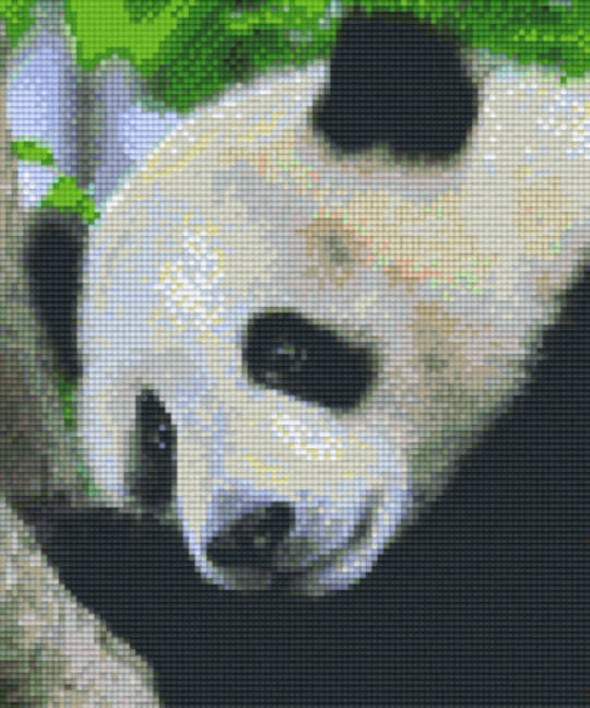 Panda Bear Six [6] Baseplate PixleHobby Mini-mosaic Art Kits