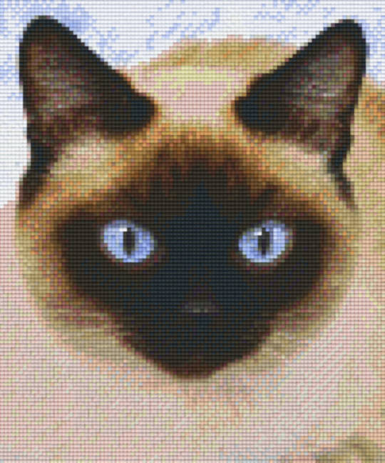 Blue Eyed Cat Six [6] Baseplate PixleHobby Mini-mosaic Art Kits