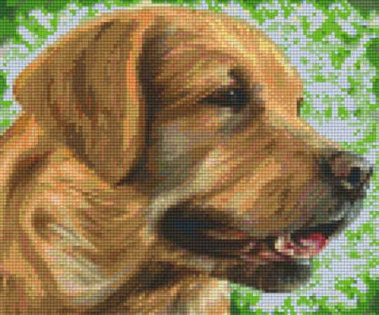 English Labrador Six [6] Baseplate PixleHobby Mini-mosaic Art Kits