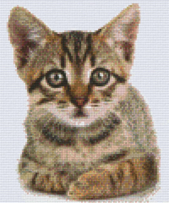 Kitten 2 Six [6] Baseplate PixleHobby Mini-mosaic Art Kits