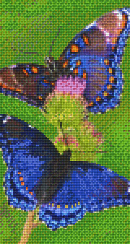 Butterflies Six [6] Baseplate PixleHobby Mini-mosaic Art Kits