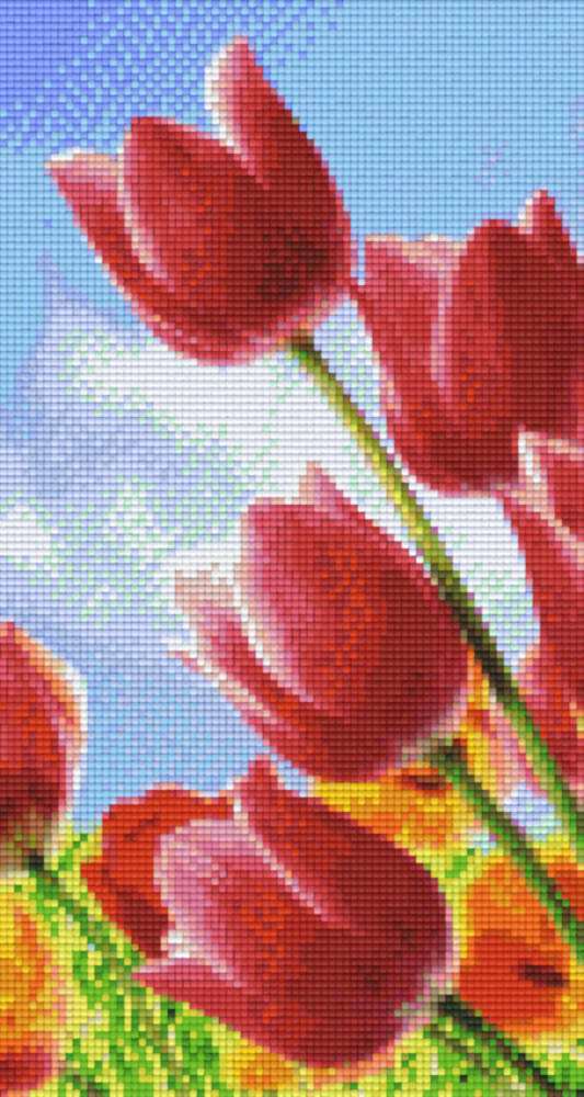 Tulips 1 Six [6] Baseplate PixleHobby Mini-mosaic Art Kits