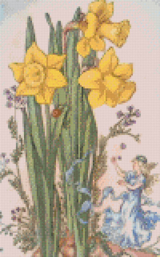 Narcissus Fairy Eight [8] Baseplate PixelHobby Mini-mosaic Art Kits
