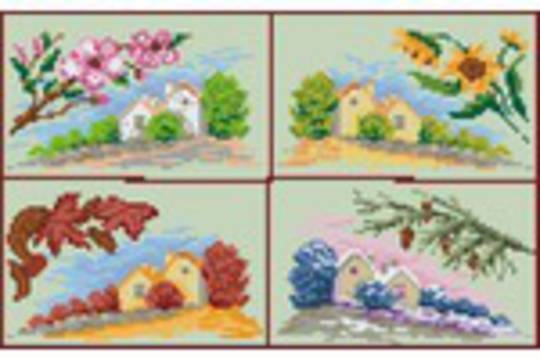 Four Seasons Eight [8] Baseplate PixelHobby Mini-mosaic Art Kits