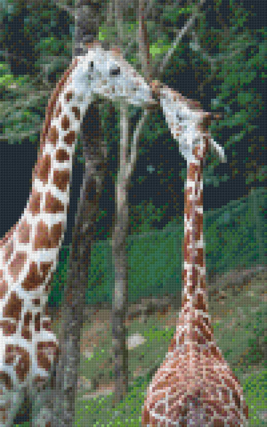 Giraffe Love Eight [8] Baseplate PixelHobby Mini-mosaic Art Kits