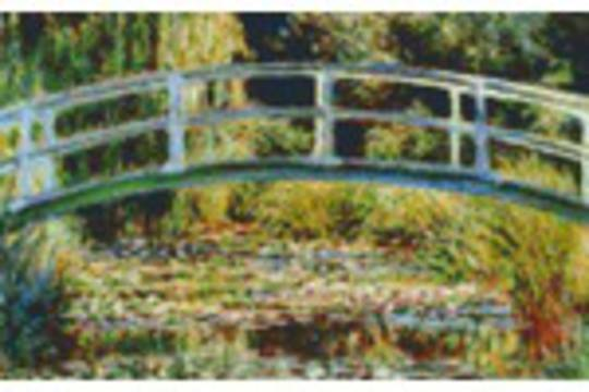 The Japanese Bridge At Giverny Eight [8] Baseplate PixelHobby Mini-mosaic Art Kits