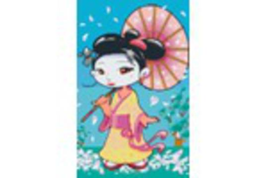 Geisha Eight [8] Baseplate PixelHobby Mini-mosaic Art Kits