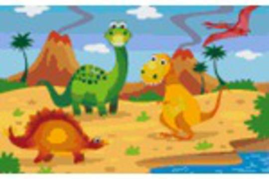 Dinos Four Eight [8] Baseplate PixelHobby Mini-mosaic Art Kits