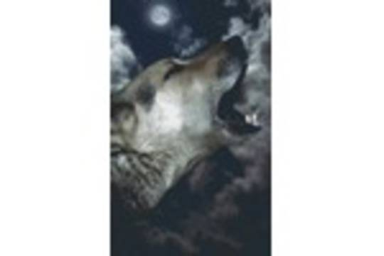 Wolf Howling In The Night Eight [8] Baseplate PixelHobby Mini-mosaic Art Kits