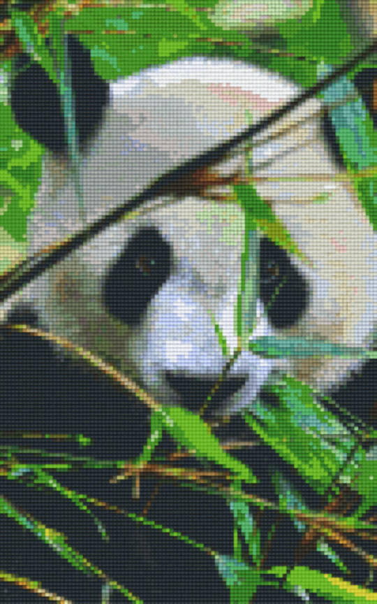 Panda Eight [8] Baseplate PixelHobby Mini-mosaic Art Kits