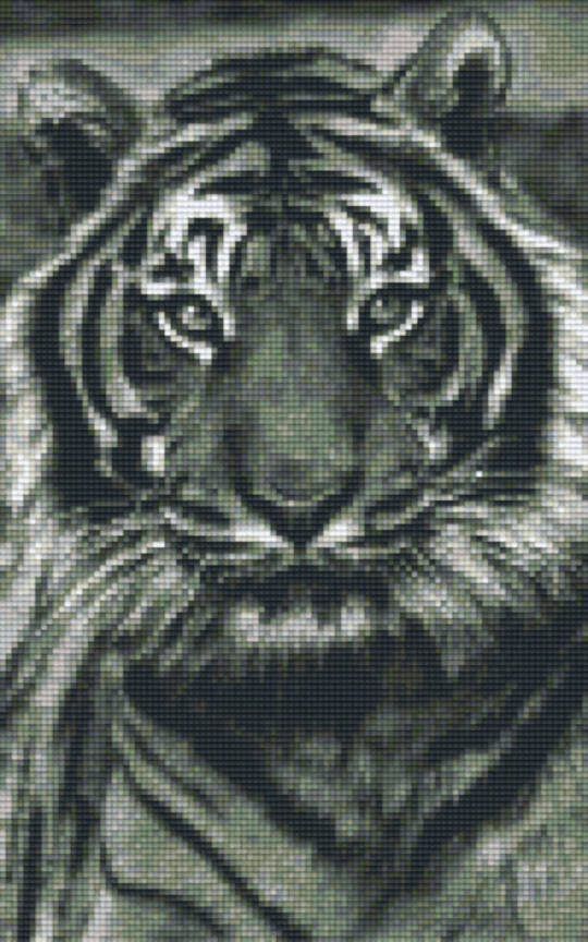 Tiger 3 Eight [8] Baseplate PixelHobby Mini-mosaic Art Kits