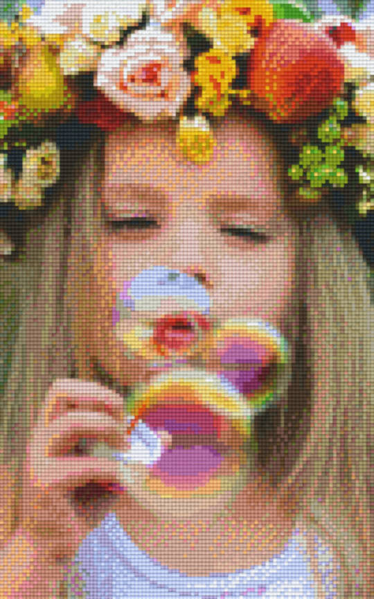 Blowing Bubbles Eight [8] Baseplate PixelHobby Mini-mosaic Art Kits