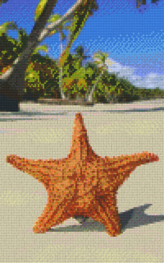 Starfish Eight [8] Baseplate PixelHobby Mini-mosaic Art Kits