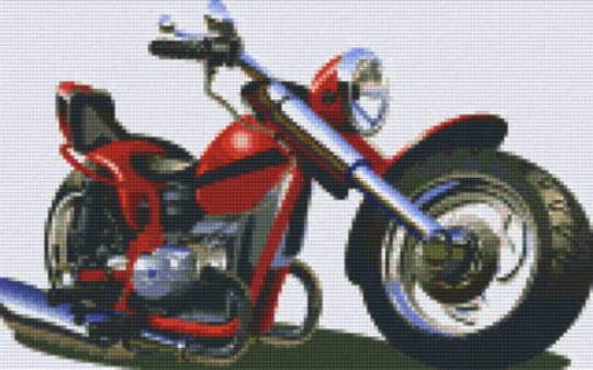 Motorbike Eight [8] Baseplate PixelHobby Mini-mosaic Art Kits