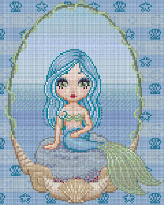 Mermaid Sanjula Nine [9] Baseplate PixelHobby Mini-mosaic Art Kits