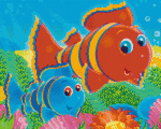 Clown Fish Nine [9] Baseplate PixelHobby Mini-mosaic Art Kits