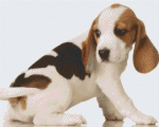 Beagle Puppy Nine [9] Baseplate PixelHobby Mini-mosaic Art Kits