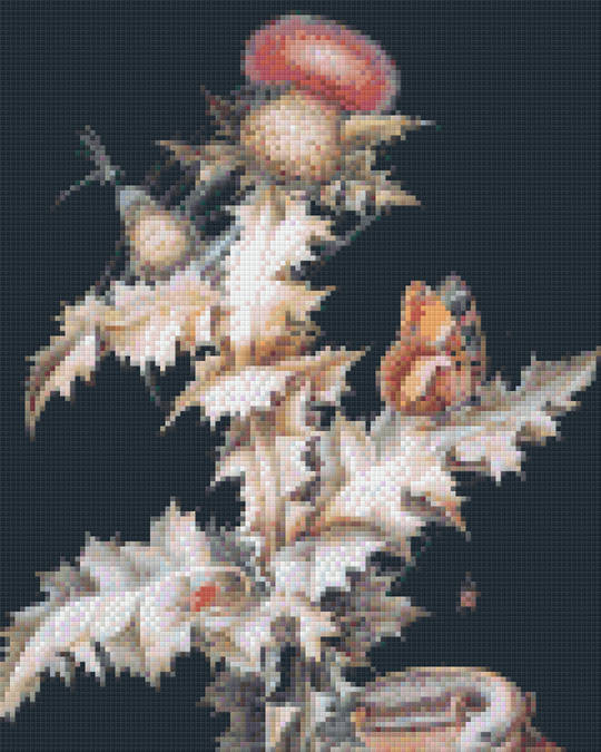 Thistle Butterfly Nine [9] Baseplate PixelHobby Mini-mosaic Art Kits