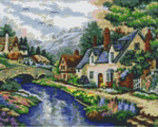 Brook Through The Valley Nine [9] Baseplates PixelHobby Mini- mosaic Art Kits