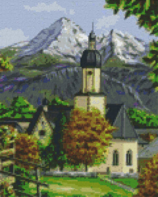 Bergen Anglican Church Nine [9] Baseplates PixelHobby Mini- mosaic Art Kits
