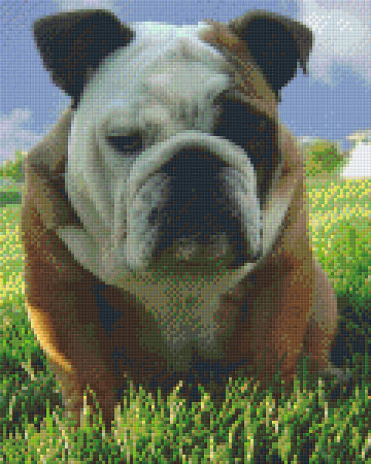 Bulldog Nine [9] Baseplate PixelHobby Mini-mosaic Art Kits