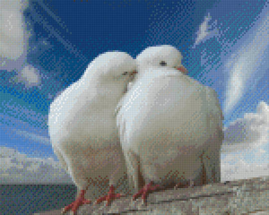 Doves Nine [9] Baseplate PixelHobby Mini-mosaic Art Kits