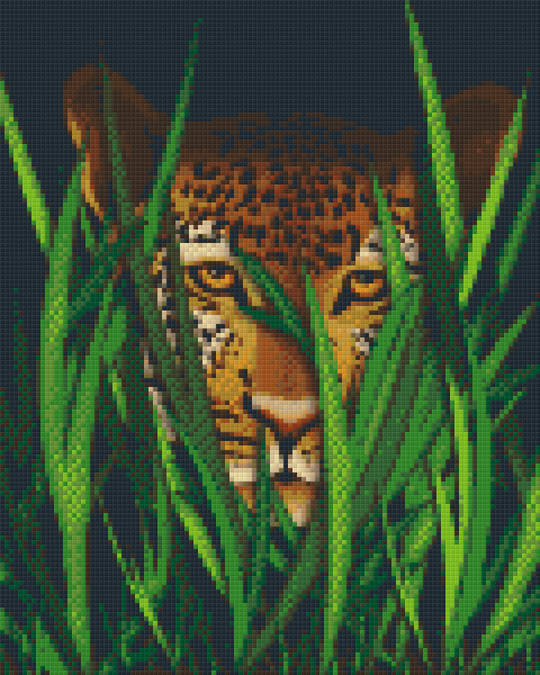 Leopard In The Grass Nine [9] Baseplate PixelHobby Mini-mosaic Art Kits