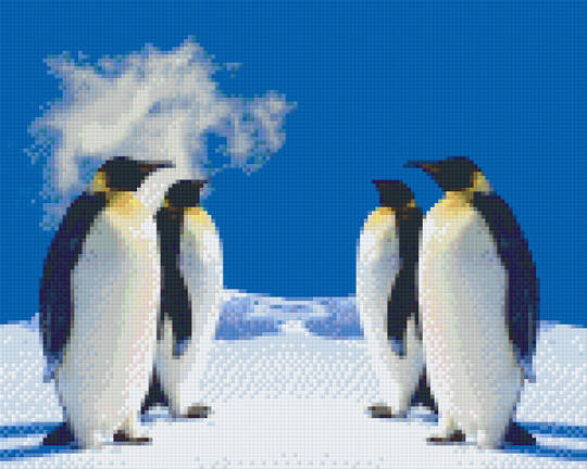 Pinguins Nine [9] Baseplate PixelHobby Mini-mosaic Art Kits