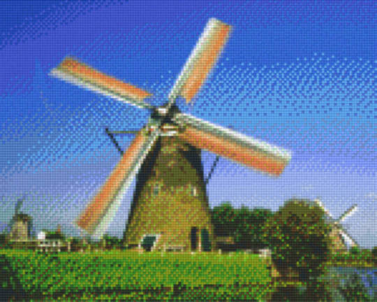 Windmill Nine [9] Baseplates PixelHobby Mini- mosaic Art Kits