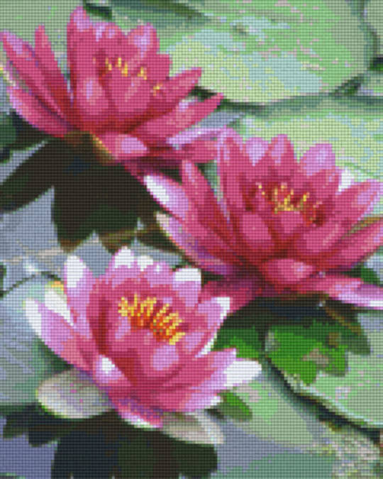 Watherlillies Nine [9] Baseplates PixelHobby Mini- mosaic Art Kits