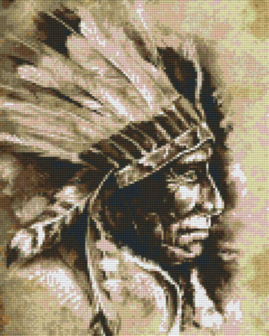 Indian Chief Nine [9] Baseplates PixelHobby Mini- mosaic Art Kits