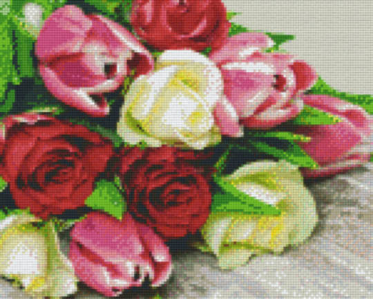 Bunch Of Tulips Nine [9] Baseplates PixelHobby Mini- mosaic Art Kits