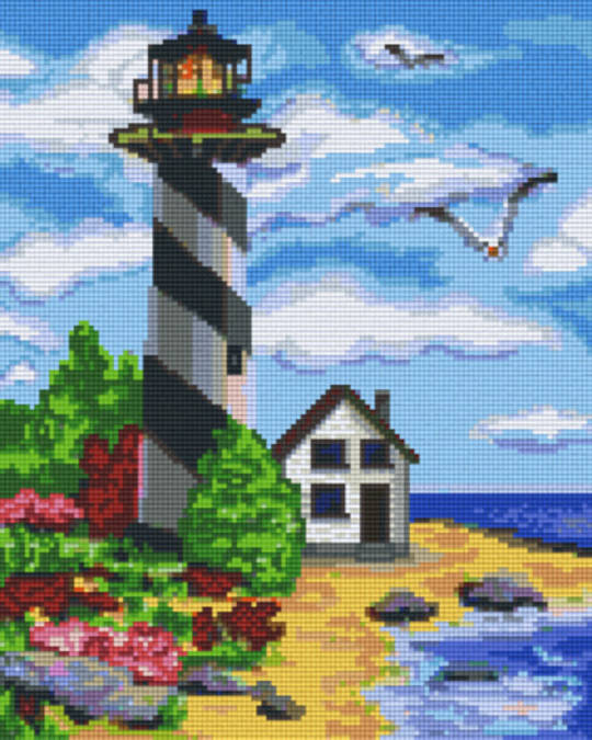 LightHouse Nine [9] Baseplates PixelHobby Mini- mosaic Art Kits