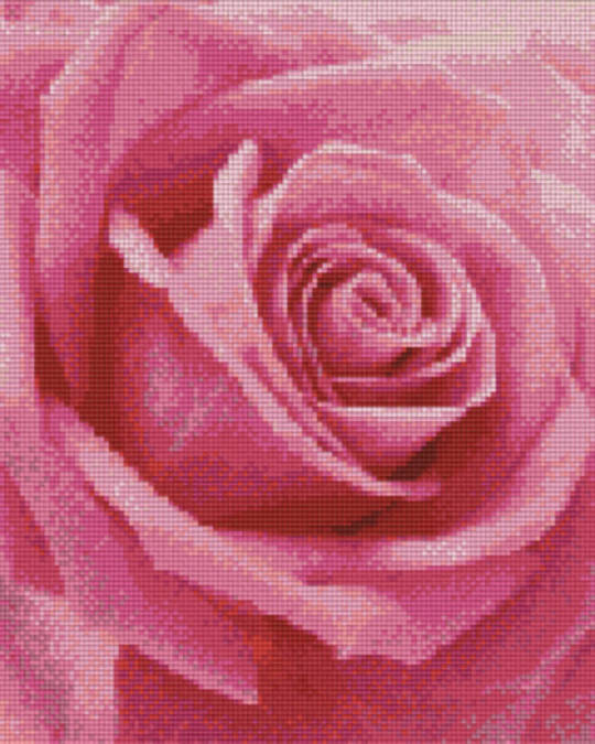 Pink Rose Nine [9] Baseplates PixelHobby Mini- mosaic Art Kits
