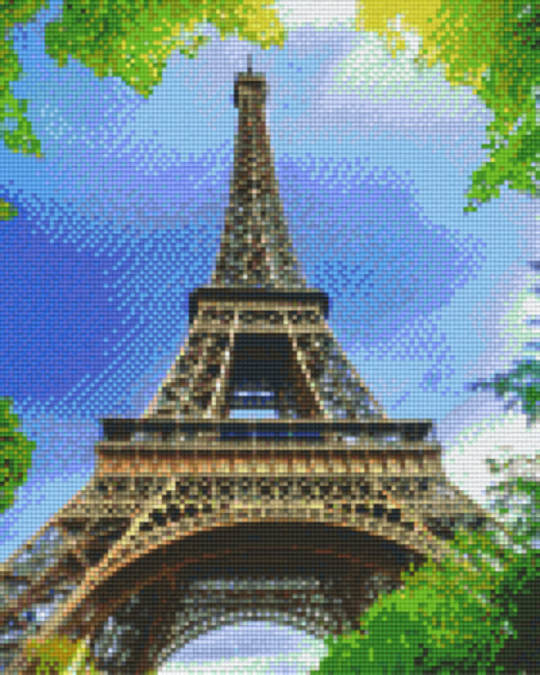 Eiffel Tower Nine [9] Baseplates PixelHobby Mini- mosaic Art Kits
