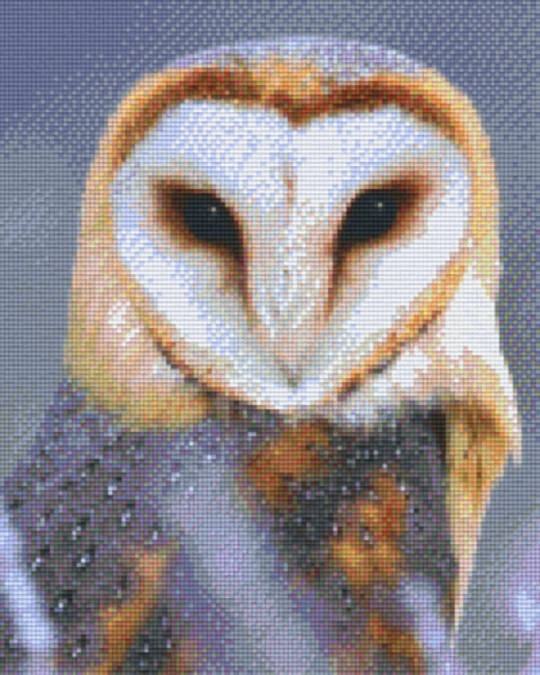 Owl Nine [9] Baseplate PixelHobby Mini-mosaic Art Kits